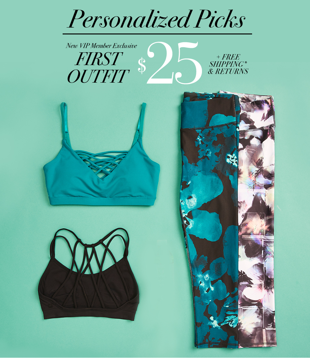 Kate Hudson invites you to try her new athletic wear outfits. Your first outfit for only $25