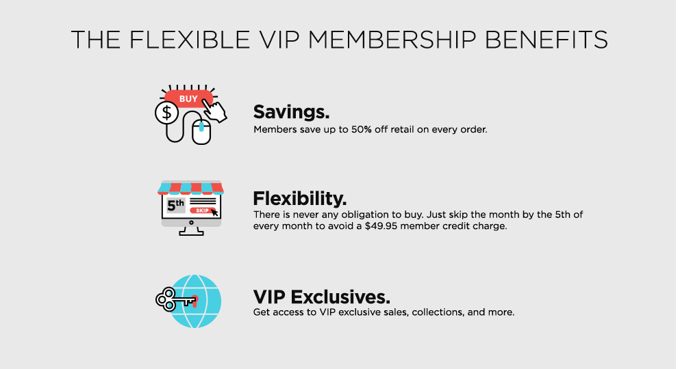 The Flexible VIP Membership Benefits