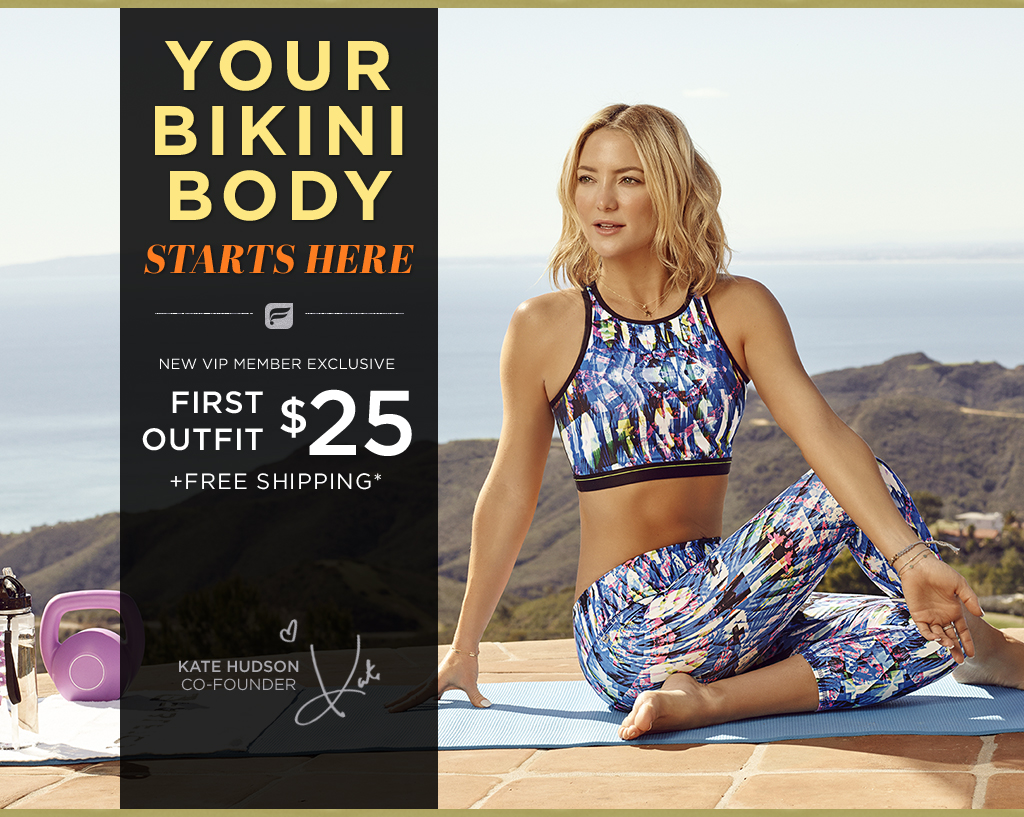 1c857755a7 Kate Hudson invites you to try her new athletic wear outfits. Your first  outfit for
