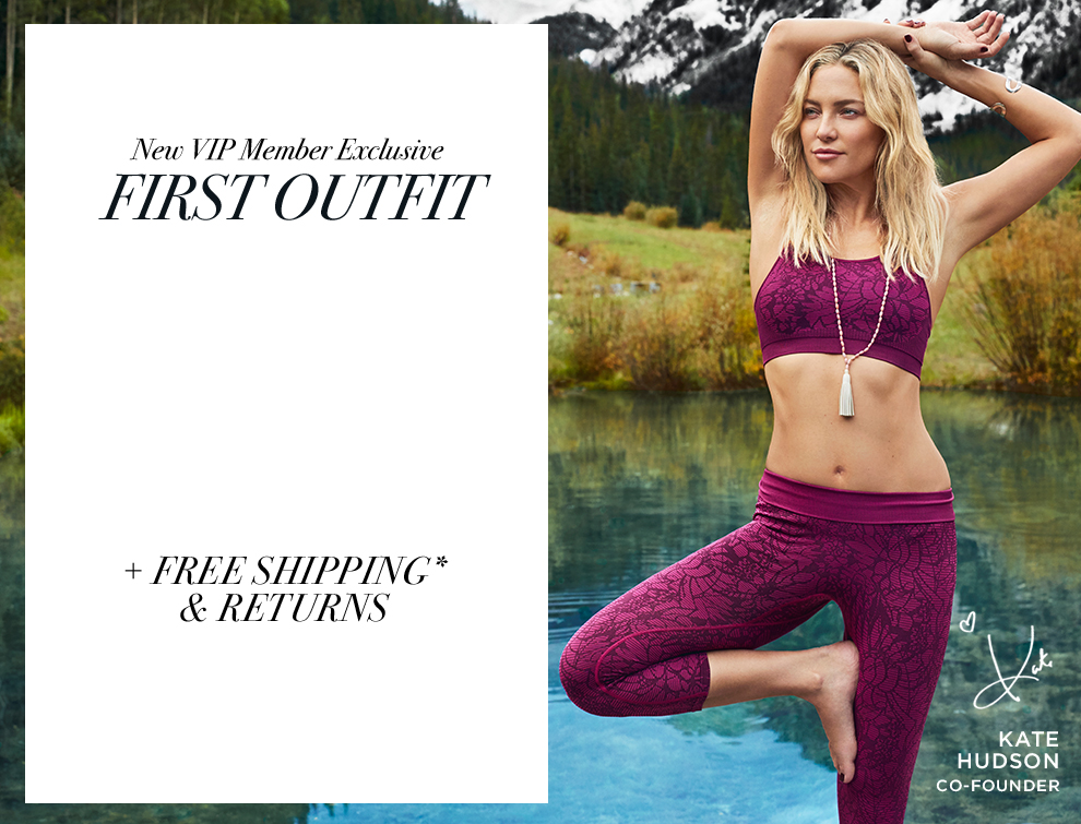 f21362389f Kate Hudson invites you to try her new athletic wear outfits. Your first  outfit for ...