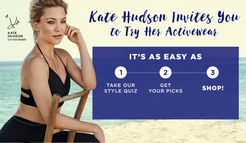 Kate Hudson Invites You To Try Her Activewear