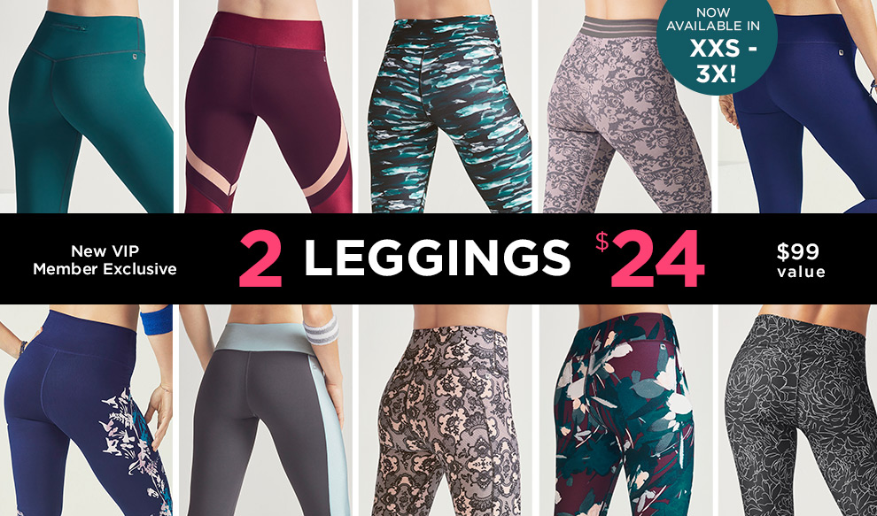 Fabletics New VIP Members Get 2 Pairs of Leggings for Only $24
