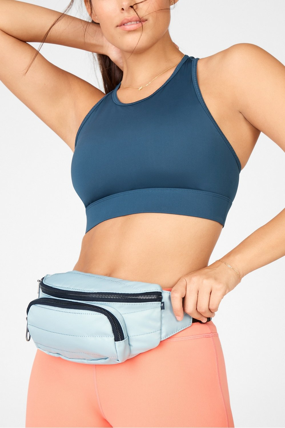 A convenient size to fit all your essentials without the bulk, our bum pack can be worn across your chest or around your waist—whichever looks better for the 'gram.