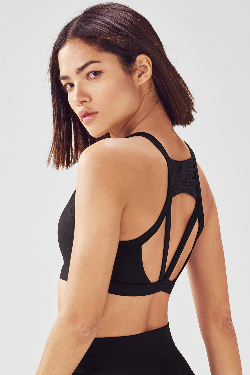 Fabletics Sports Bra Viola High Support Womens Black Size S
