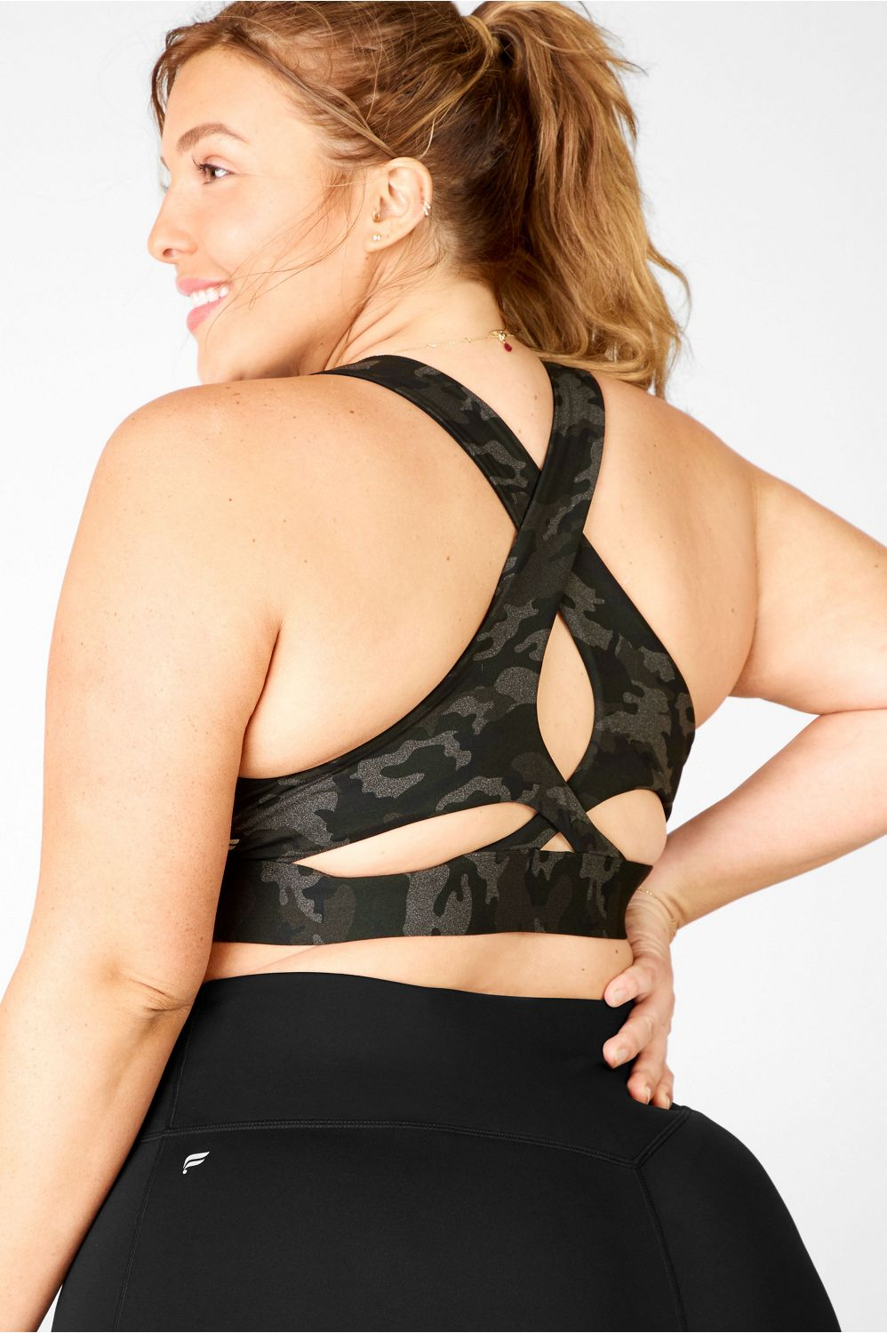 You liked the cutout cuteness of our Ellie Tank, so we made it into a supportive bra with extra wide straps for added support, sweat-wicking fabric and even some shimmer fabric that your ladies will surely love.