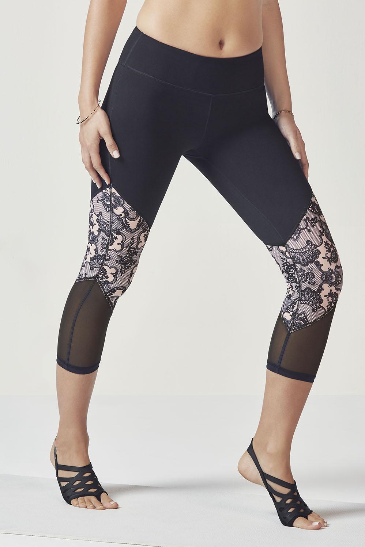 53a79059e843cc Salar Mesh PowerHold® Capri - Black/Lace Print