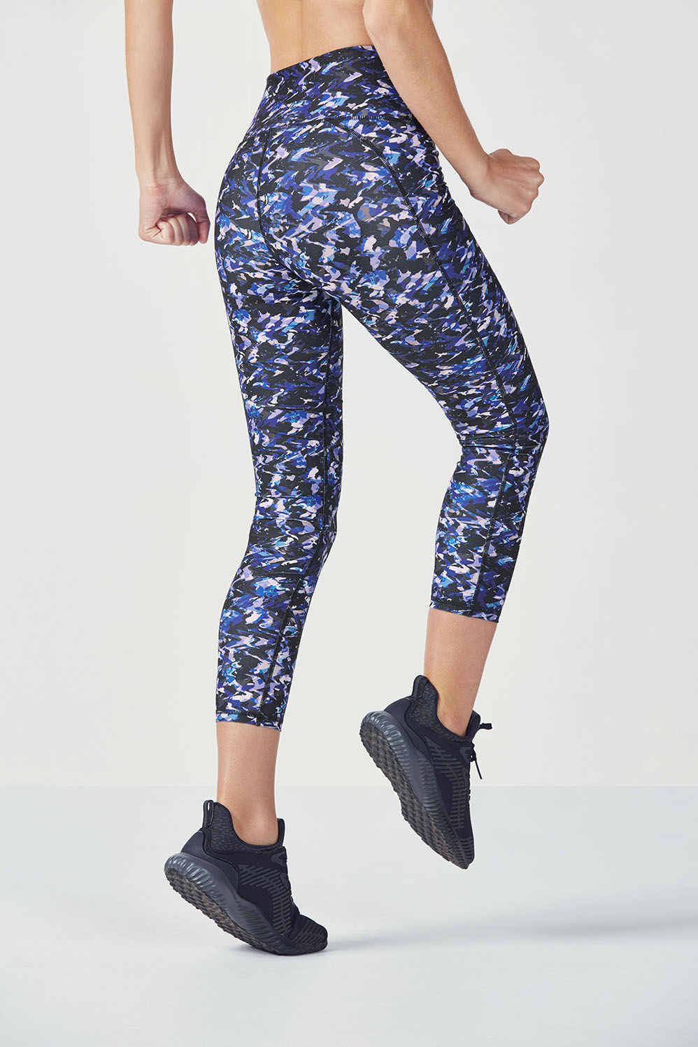 476c59b9ee24a High-Waisted Printed PowerHold® 7/8 - Bright Blue Painted Camo Print