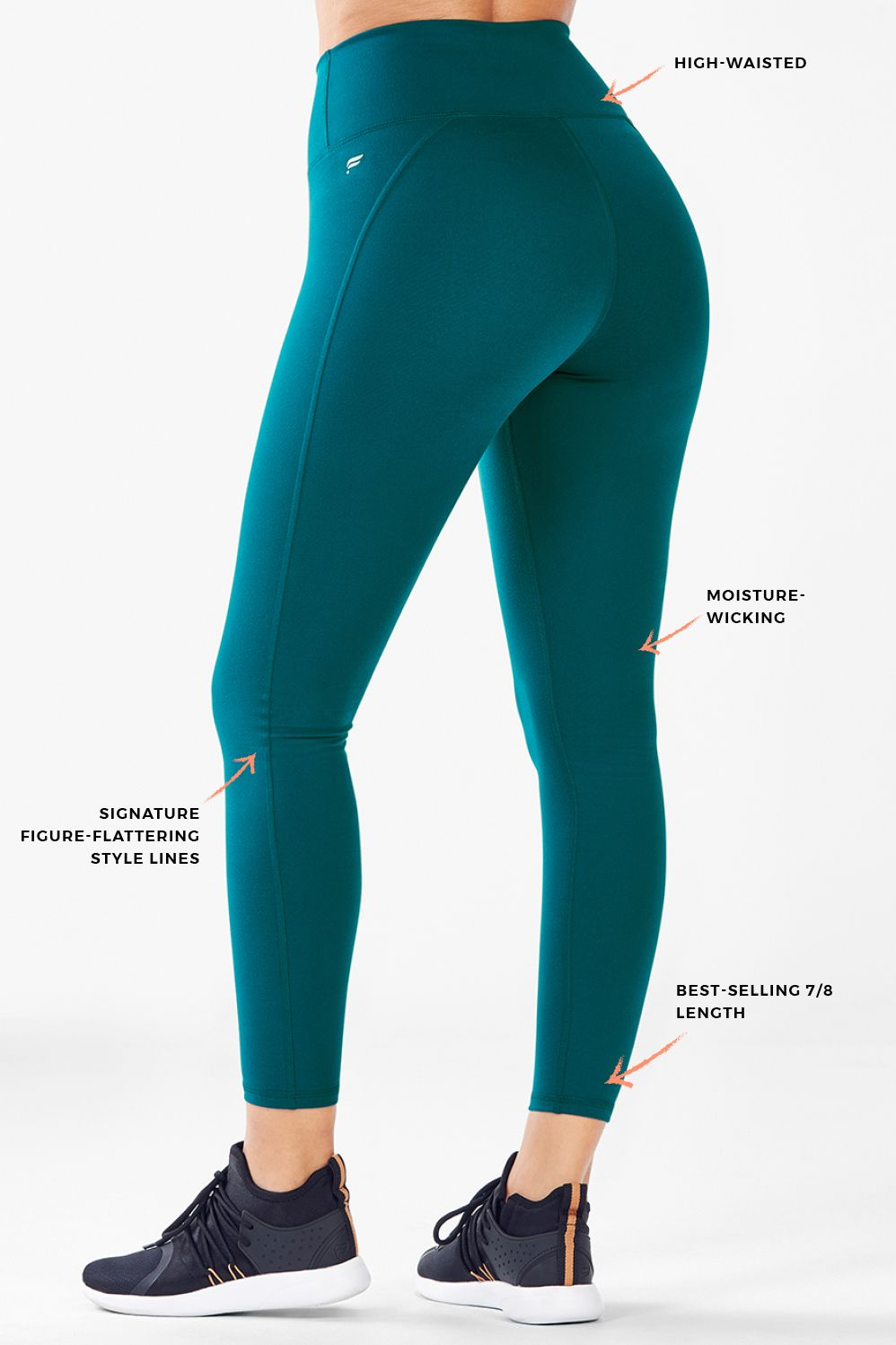 High-Waisted Solid PowerHold® 7 8 - Fabletics 7cd87a1ae3b