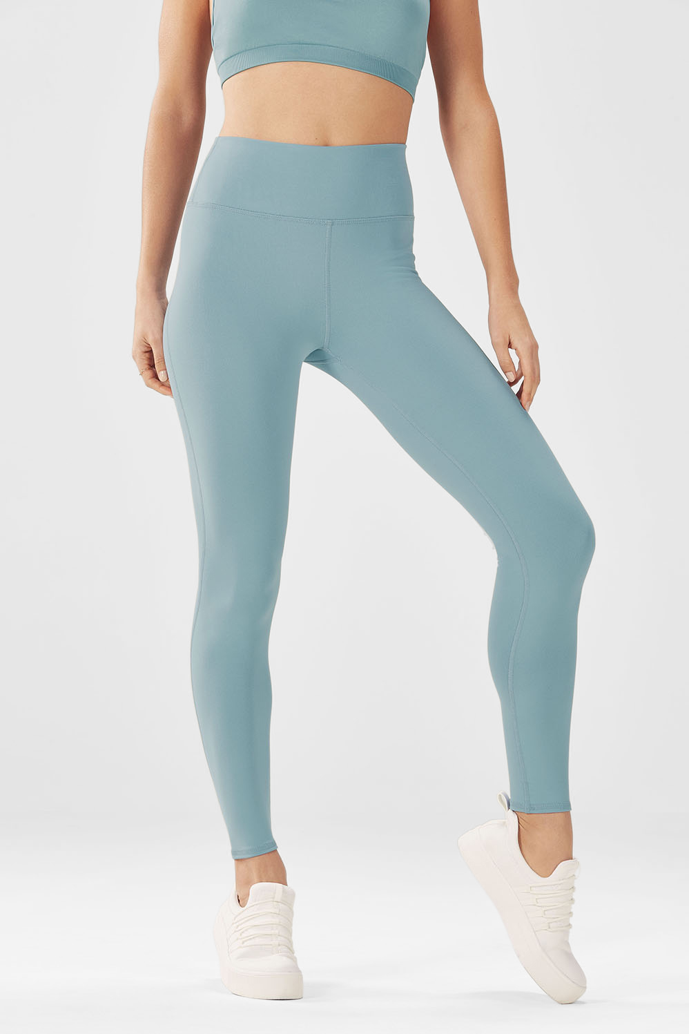 High-Waisted Solid PowerHold® 7/8