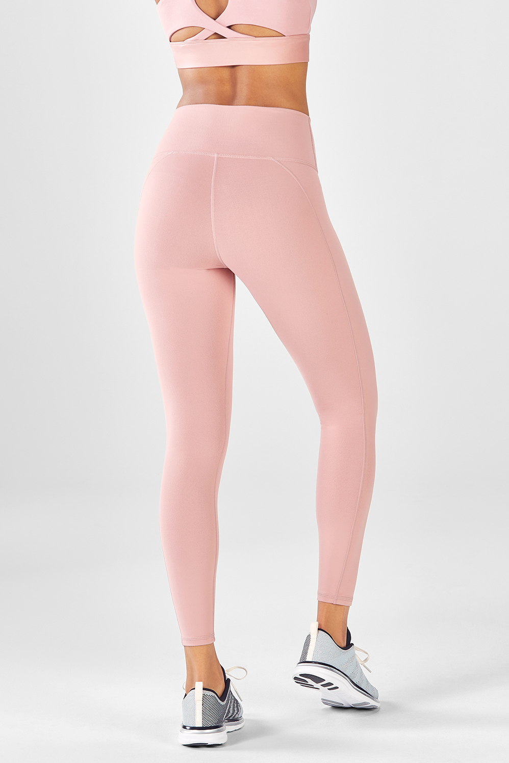 7674341c5a672c High-Waisted Solid PowerHold® 7/8 - Rosebloom
