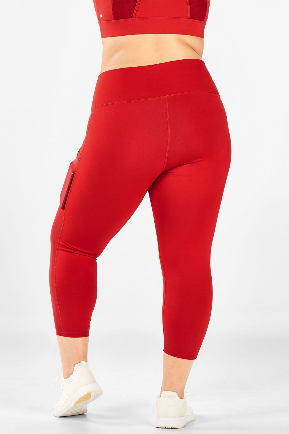 Mila Pocket Capri - Persimmon