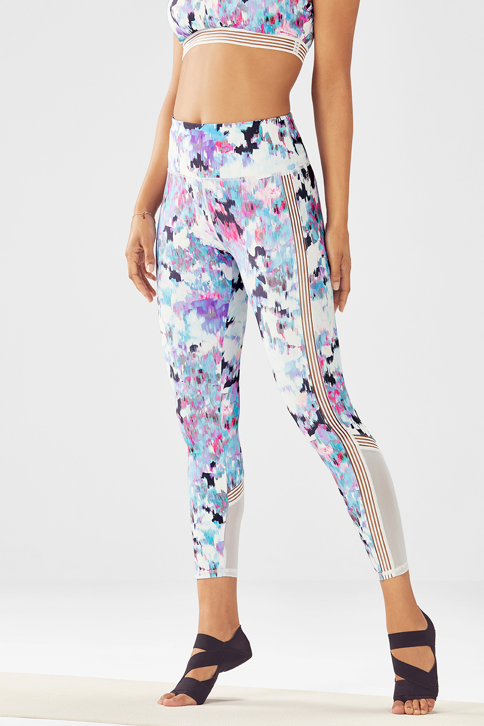 7cf8ef2d791791 High-Waisted Statement PowerHold® 7/8 - Floral Fresco Print/White