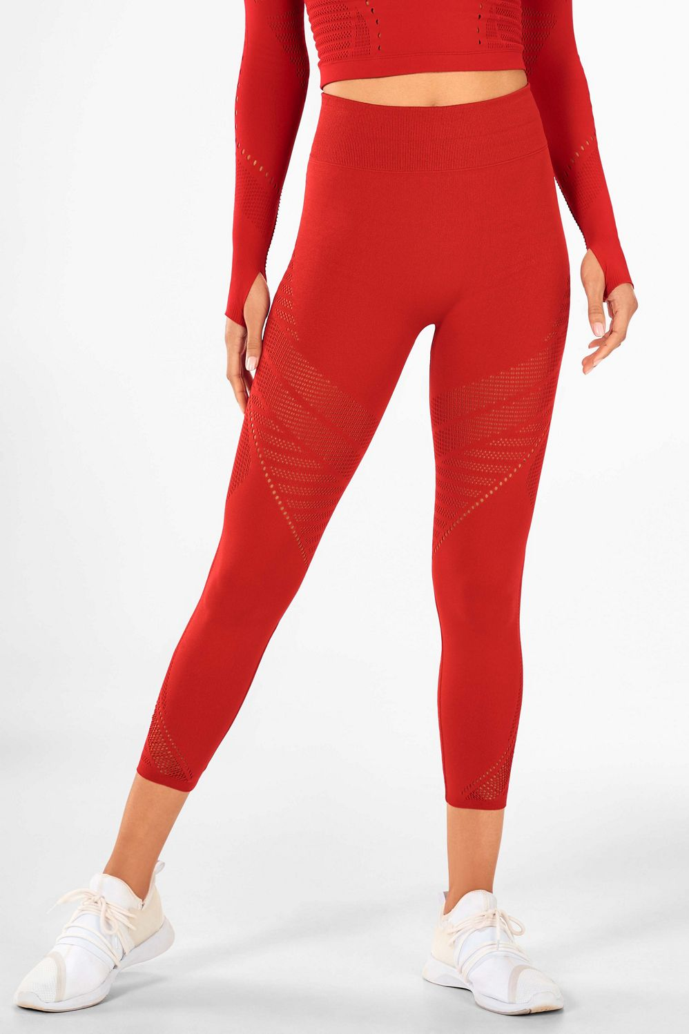 Sculptknit High-Waisted Statement Capri - persimmon