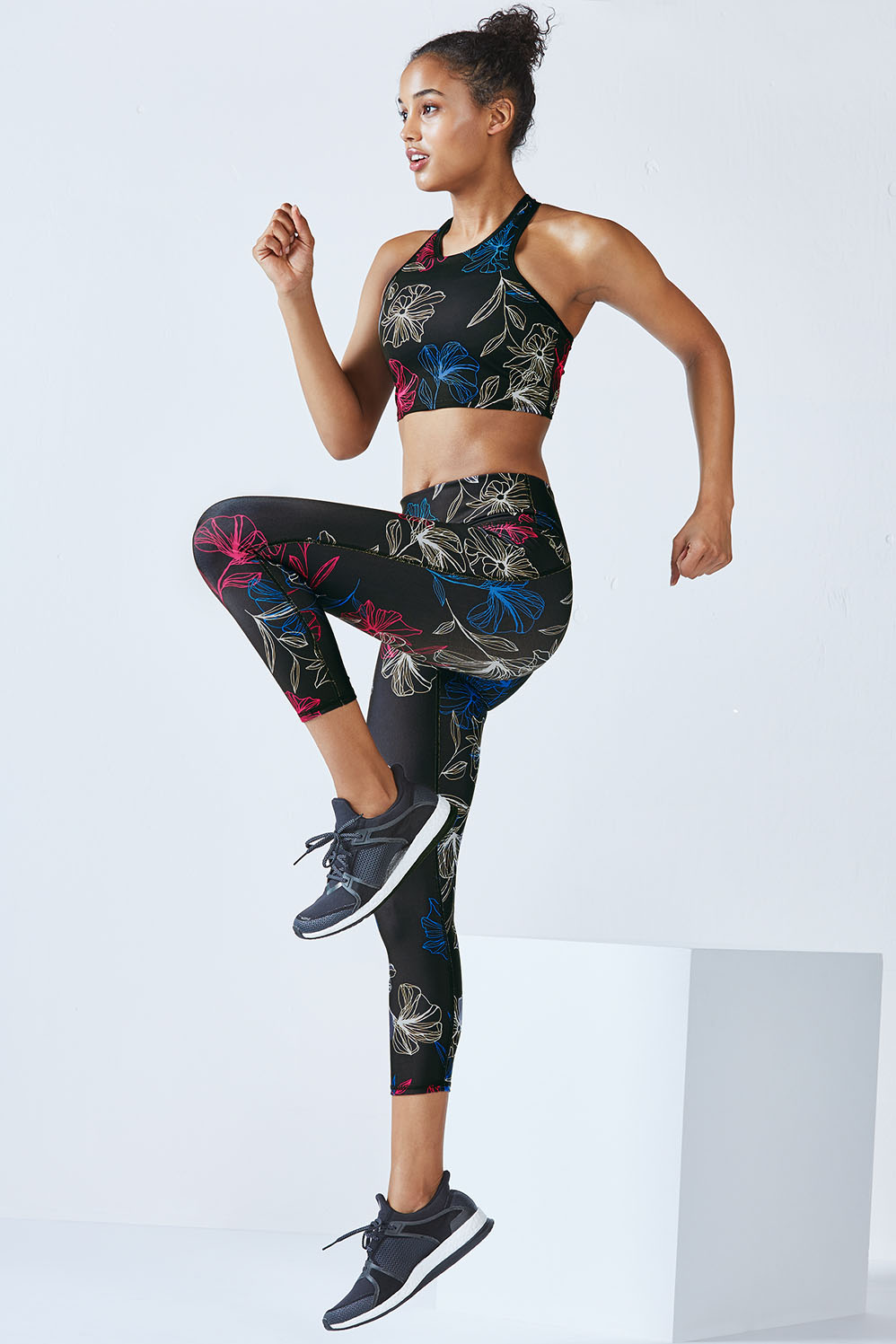 "Image of ""Fabletics Adagio Womens Blueprint Floral Print One Size Fits Most"""