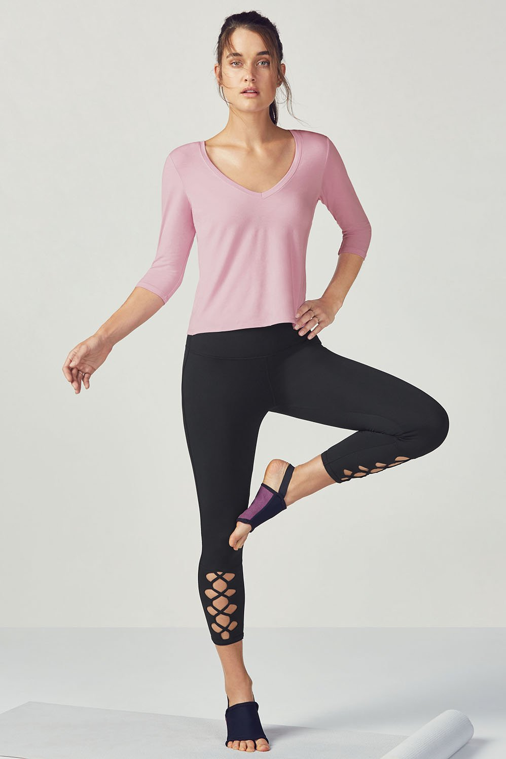 "Image of ""Fabletics Abby Womens Pink/Black One Size Fits Most"""