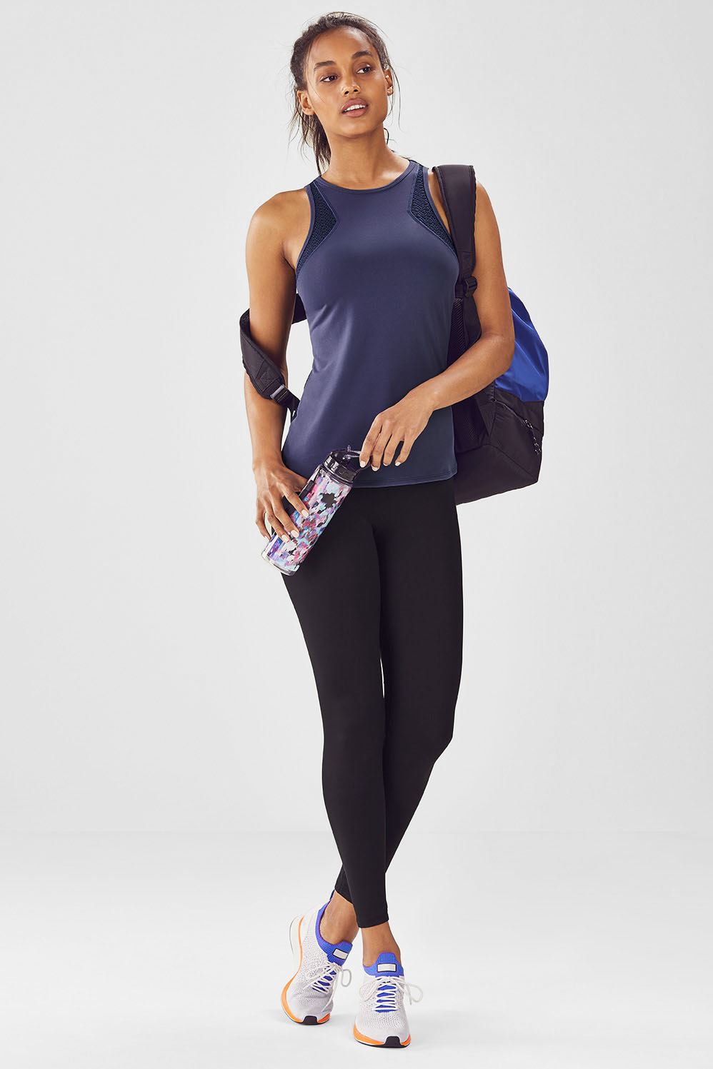 Fabletics Nisha Womens Blue/Black One Size Fits Most Outfit
