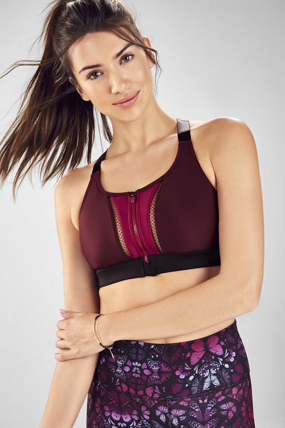 55b5ad74d92ea Zoe High Impact Sports Bra - burgundy bayberry black