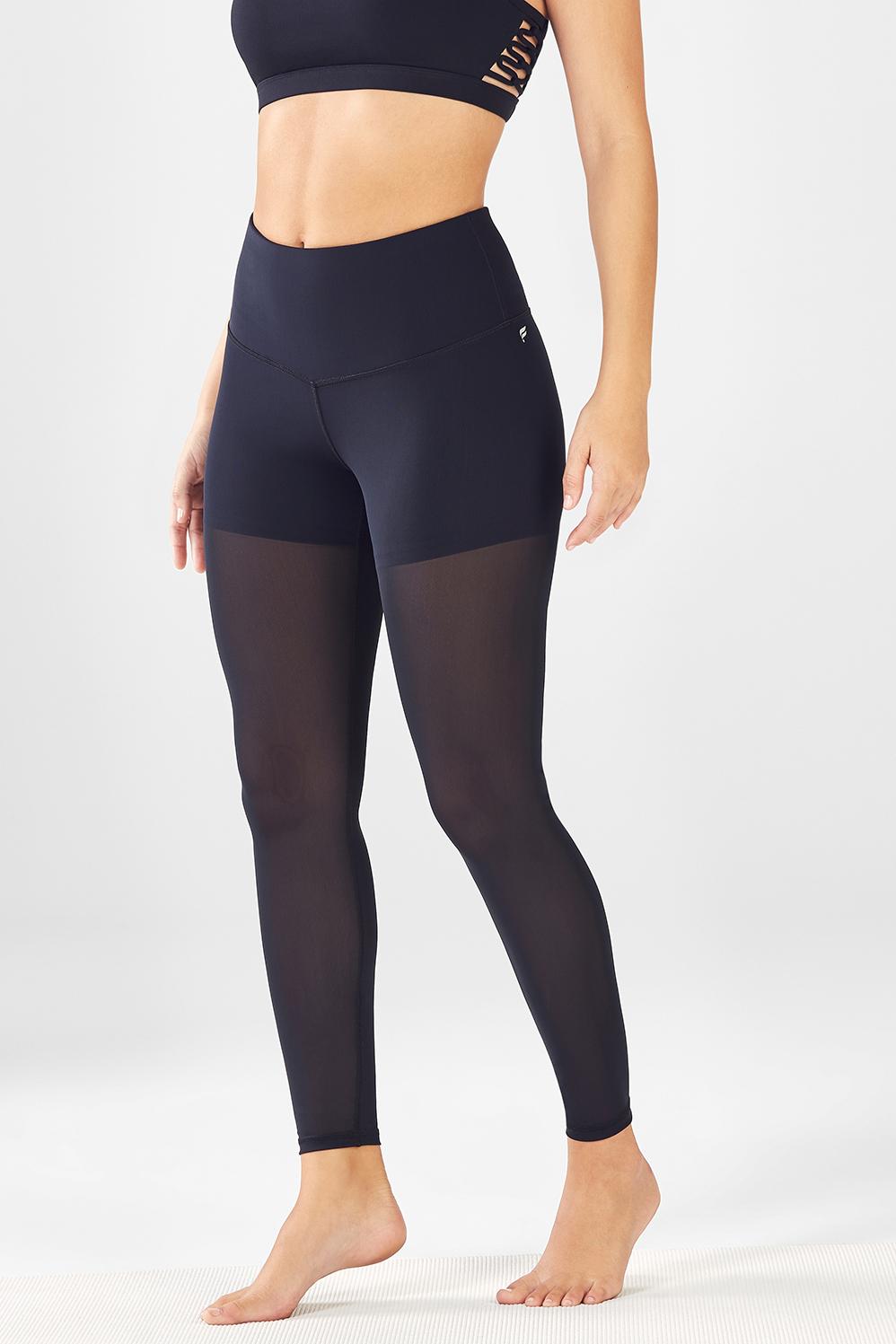 33077aaf4bb72 High-Waisted Mesh PureLuxe Legging - Fabletics