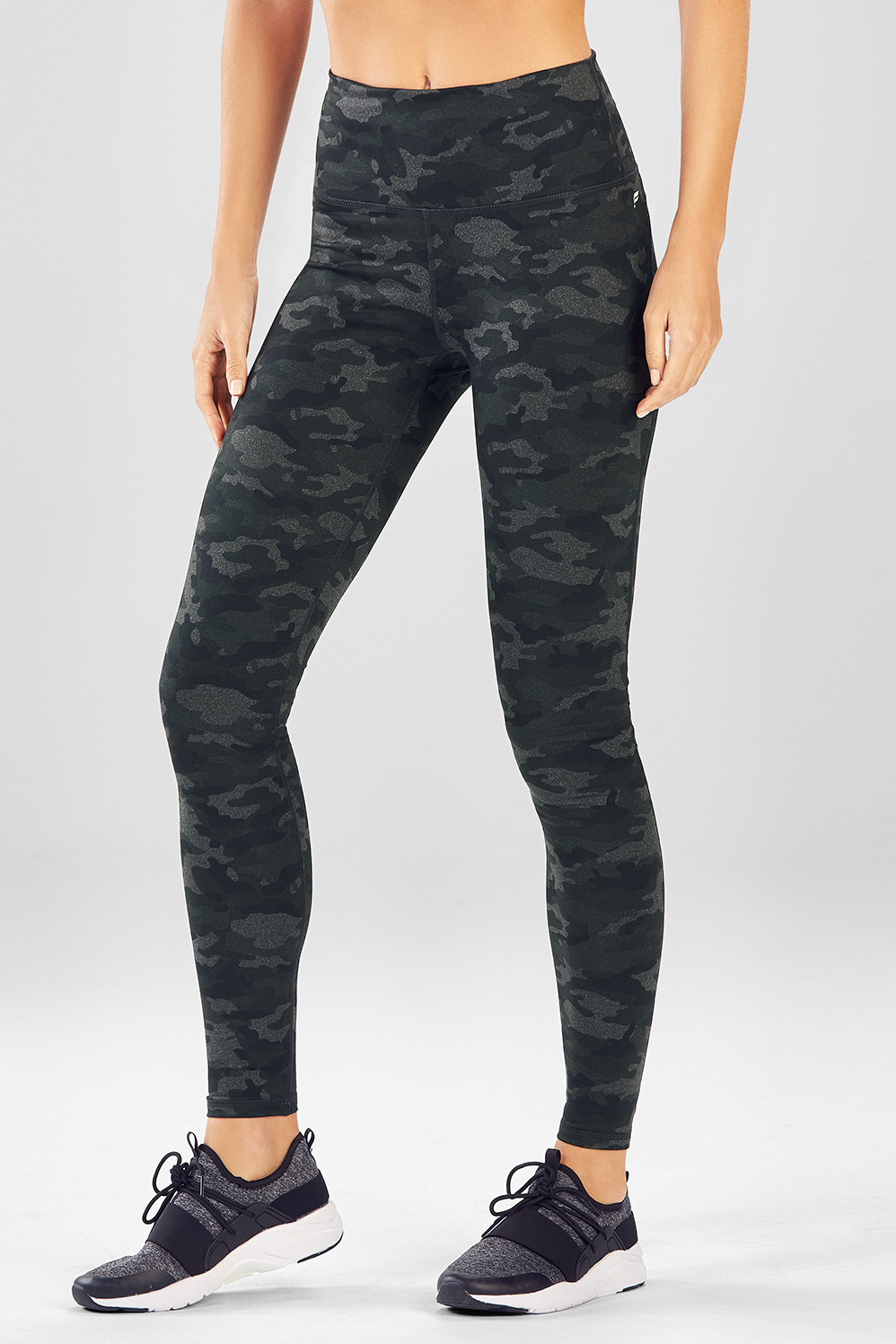 88fa2942c777a High-Waisted Printed Powerhold® Legging - Charcoal Camo
