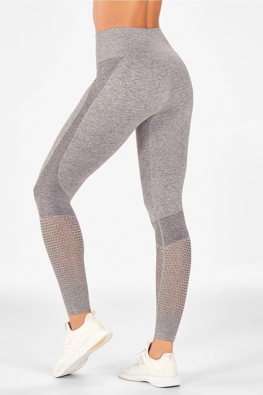 e91580072d578 Seamless High-Waisted Mesh Legging - grey heather