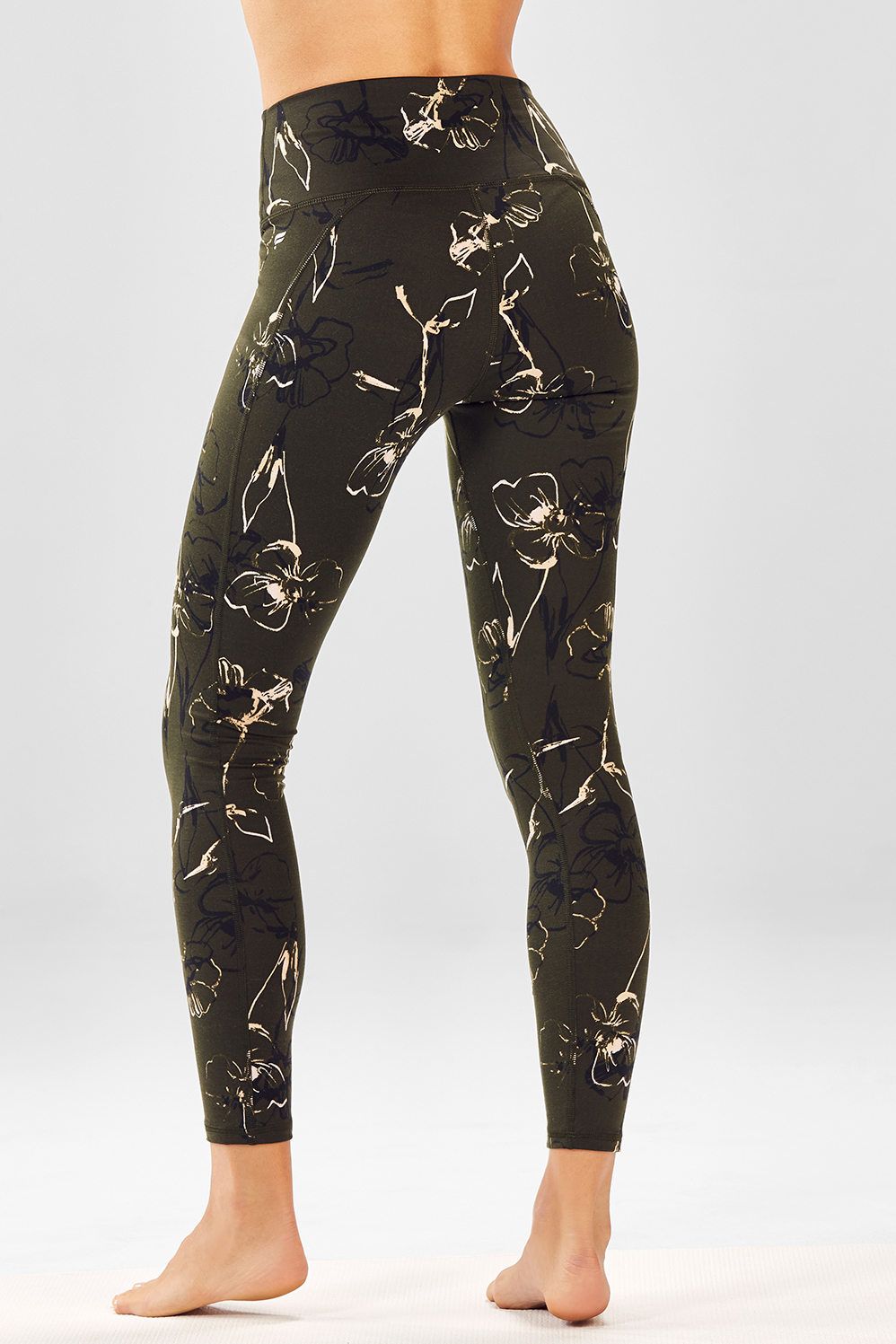 3938ca3e6dbcd9 High-Waisted Printed PowerHold® Legging - versilia dark olive