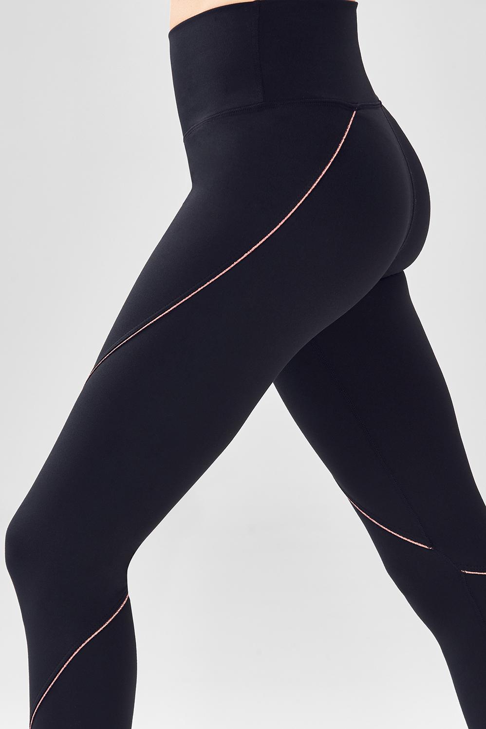 1d56dee5b2ead3 High-Waisted Statement PowerHold® Legging - Black/Pink