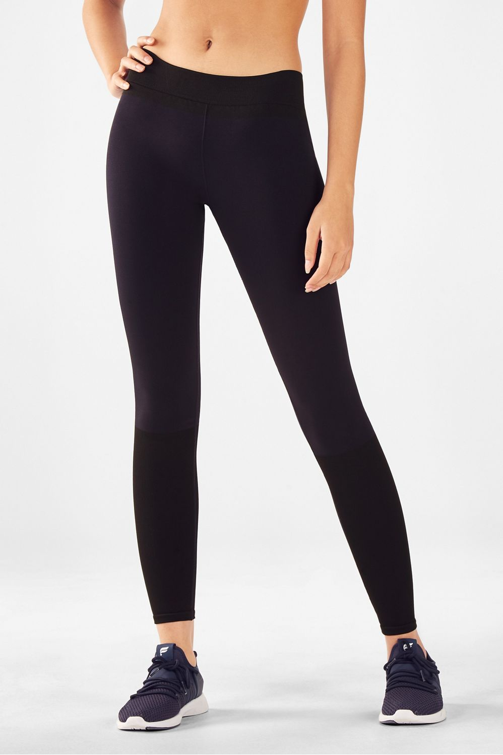 7f9b01798a0b9 Seamless Mid-Rise Statement Legging - Abyss/Black