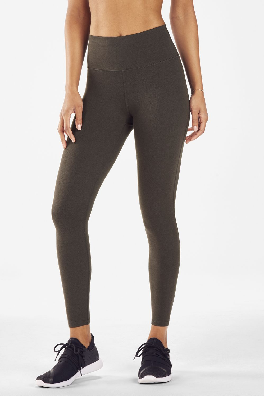 a24ff866342 High-Waisted Solid Heatherknit 7/8 - Charcoal / Heather