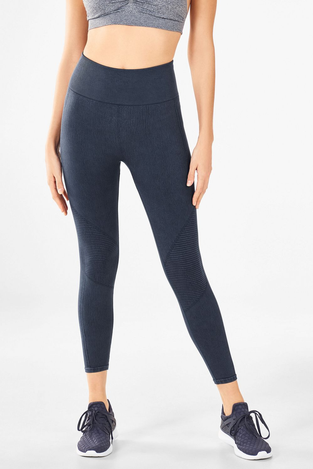 6a2d3e3a330a2 Seamless High-Waisted Statement 7/8 - Washed Slate