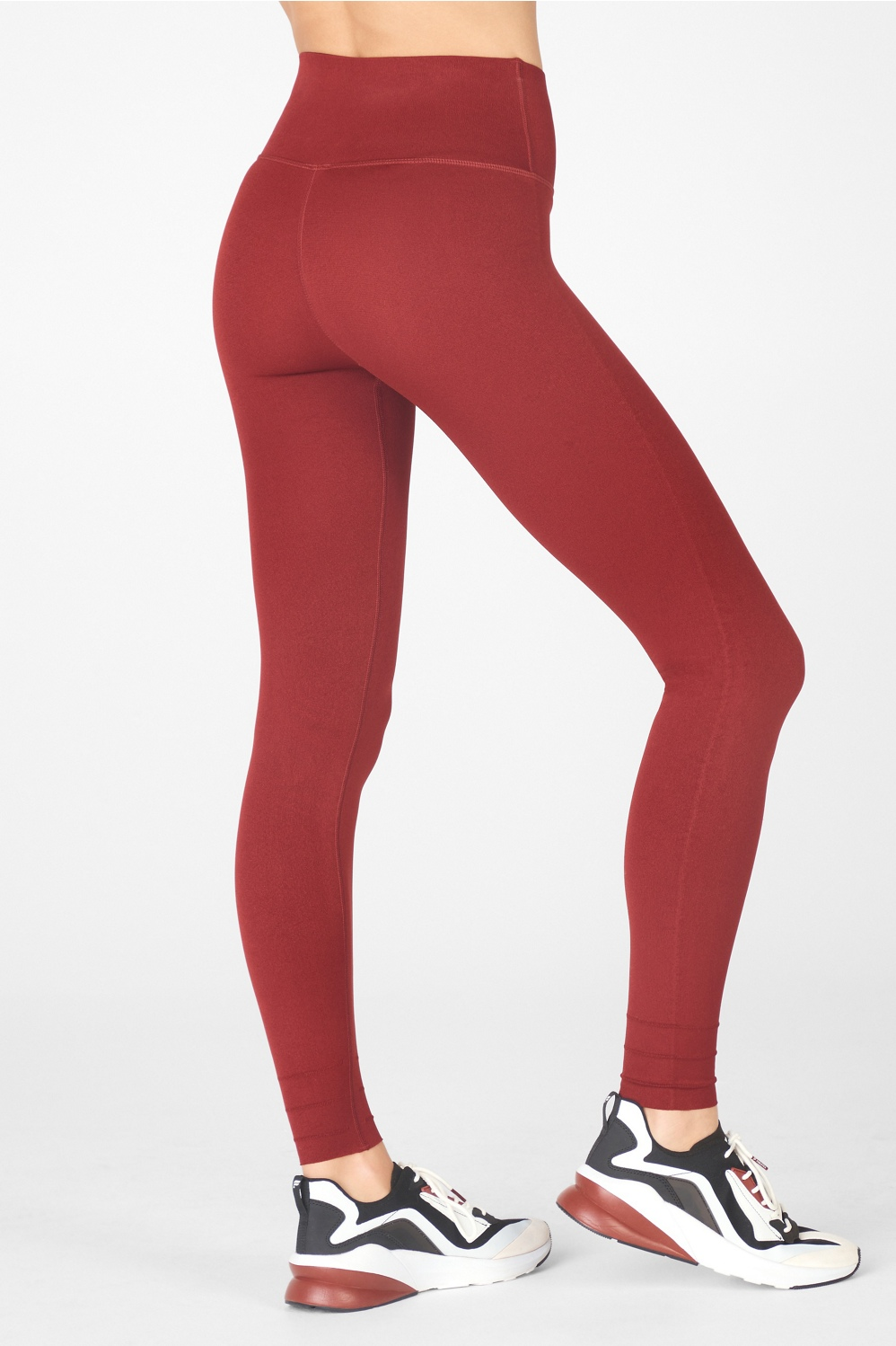 High-waist Essential Leggings with Zippered Side Pockets Yoga Pants S,M,L