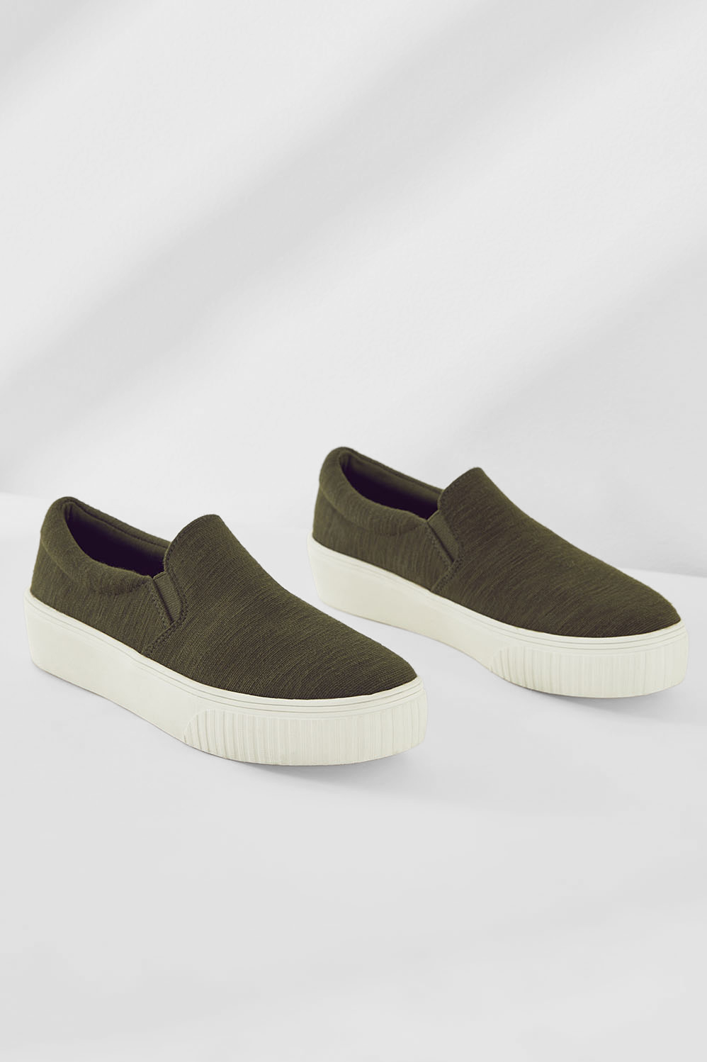 Fabletics Olive Platform Slip On Tennis Shoes