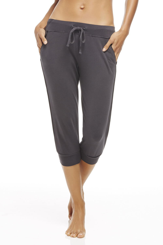 Fabletics Capri Carlisle Jogger Pants Womens Charcoal/Black Size XS