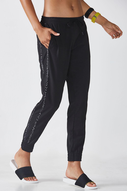 Fabletics Valerie Jogger Pants Womens Black/Constellation Print Size XL