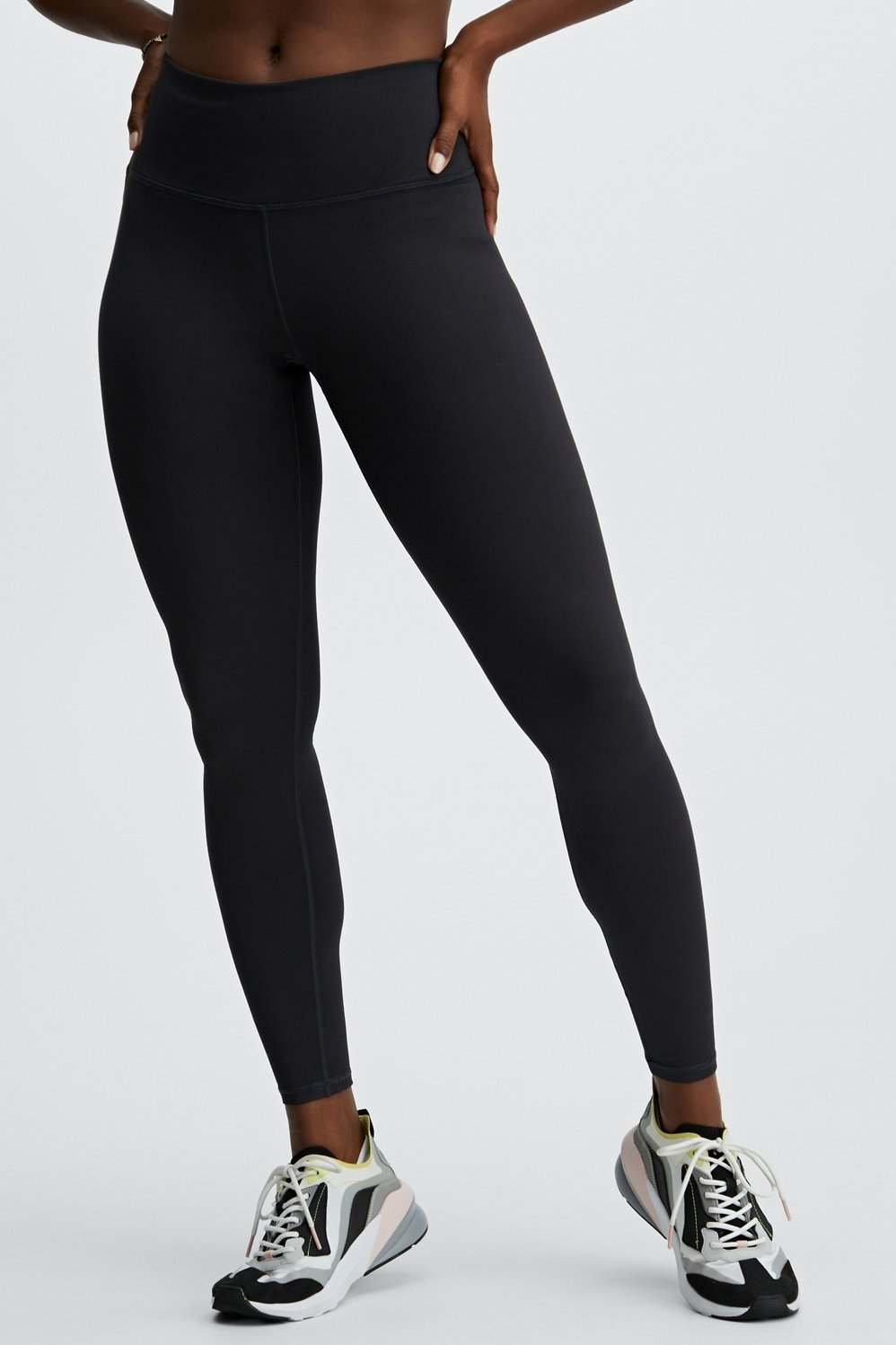 37d9b98cd694a High-Waisted Solid PowerHold® Legging - Fabletics