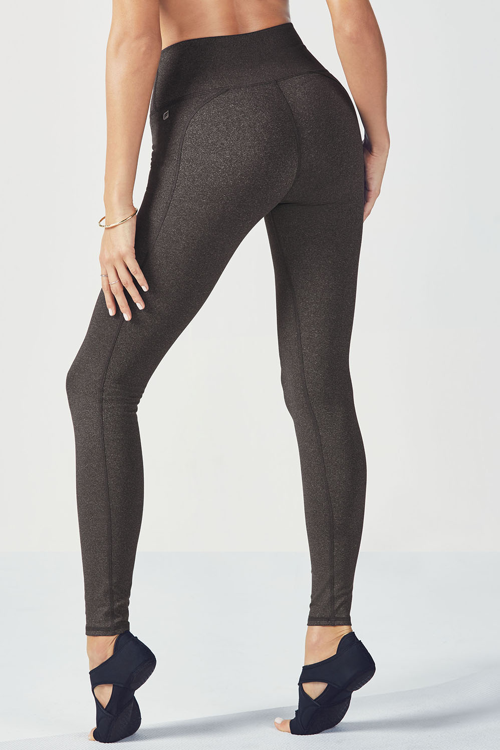8d44bed4f4aa6 High-Waisted Solid PowerHold® Legging - Charcoal Heather
