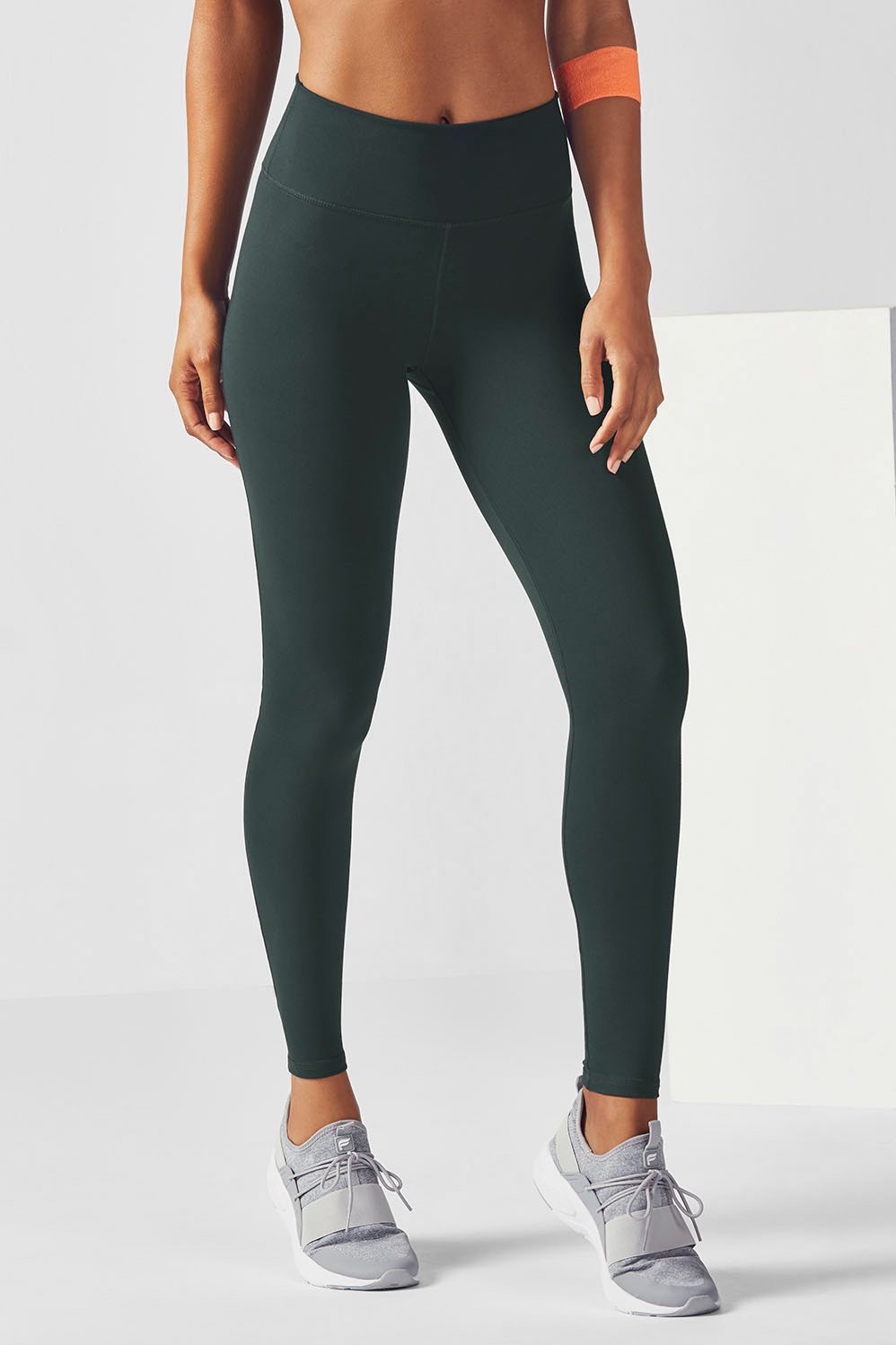 0593f21a5a897 High-Waisted Solid PowerHold® Legging - Evergreen