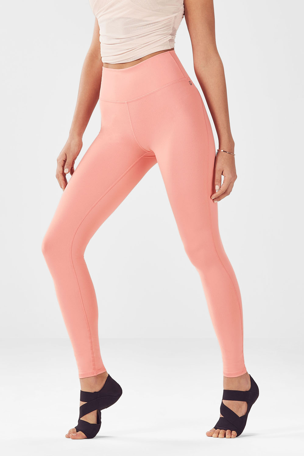 High-Waisted Solid PowerHold Legging - Papaya