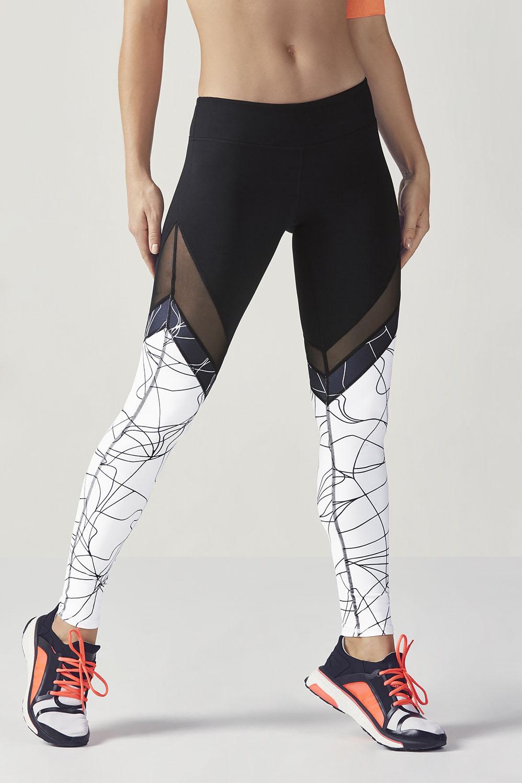 f69fc693196e9b Salar Mesh PowerHold® Legging - Black/Black Micro Linear/White Micro Linear