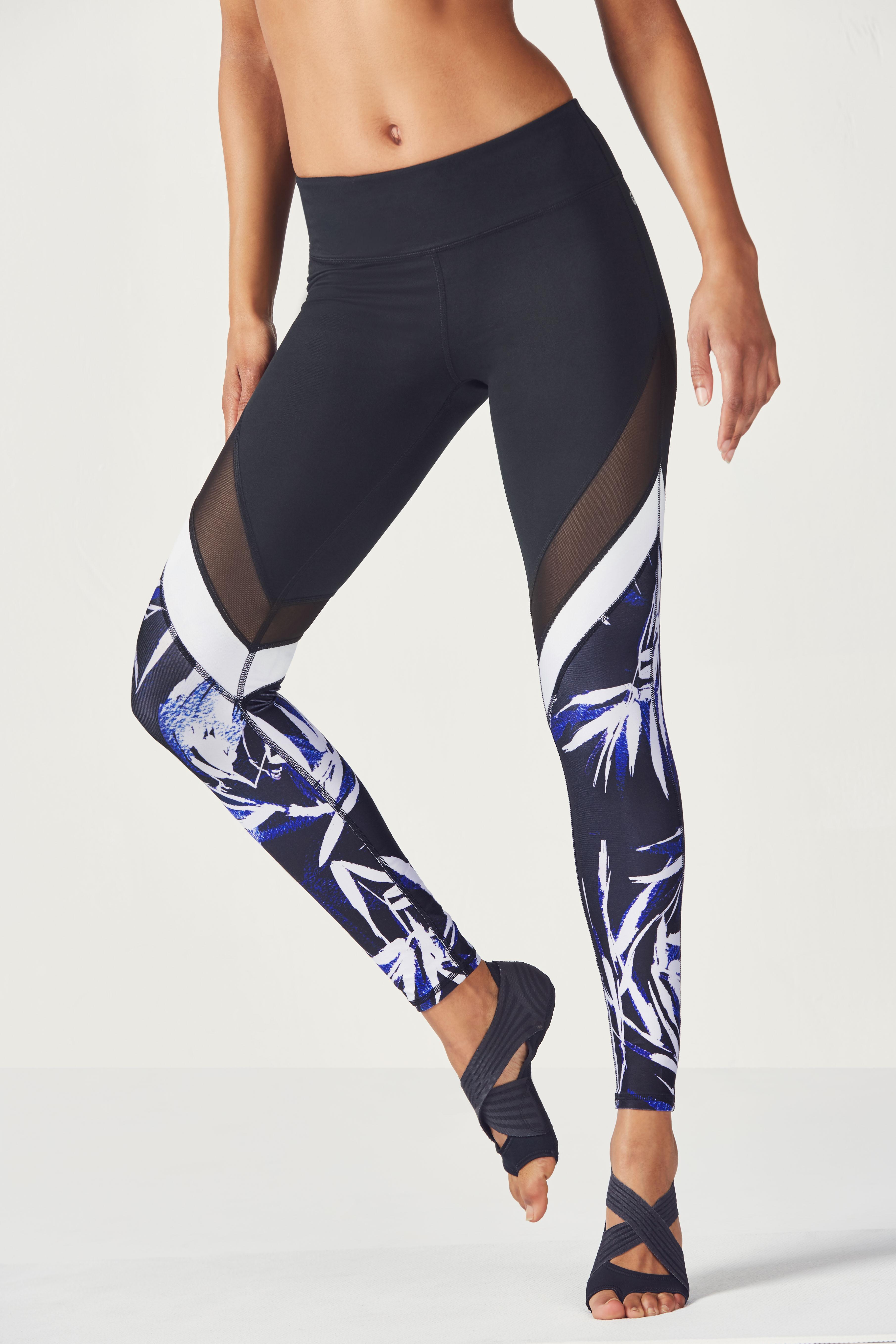 a3be44e2a40efa Salar Mesh PowerHold® Legging - Black/La Palma Print/White