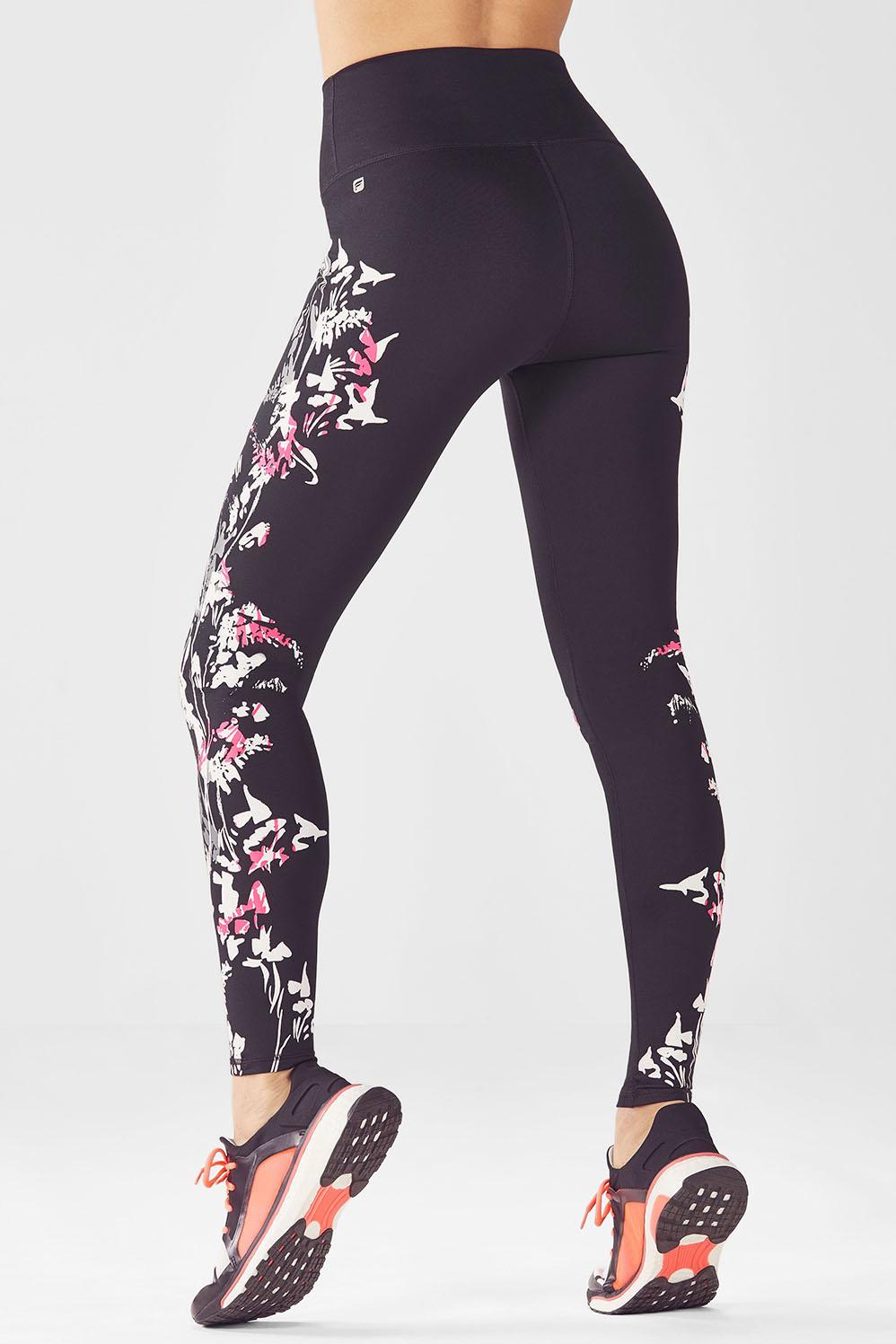fedf2799a3307 High-Waisted Printed PowerHold® Legging - Pop Coral Pretty Punk