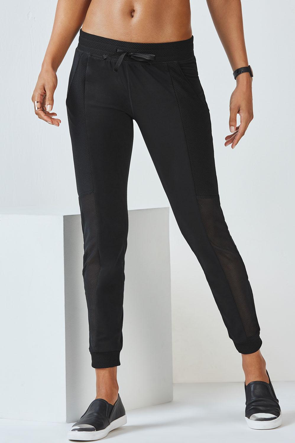 Fabletics Linda Jogger Pants Womens Black Size XXL