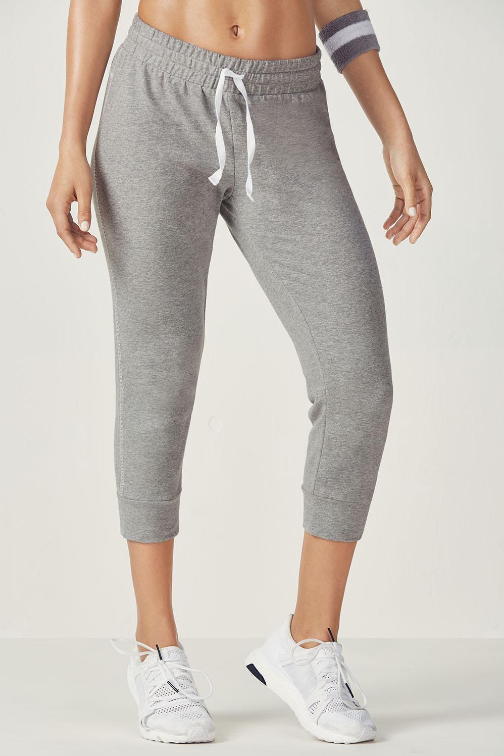 Fabletics Capri Miriam Jogger Pants Womens Gray Size M