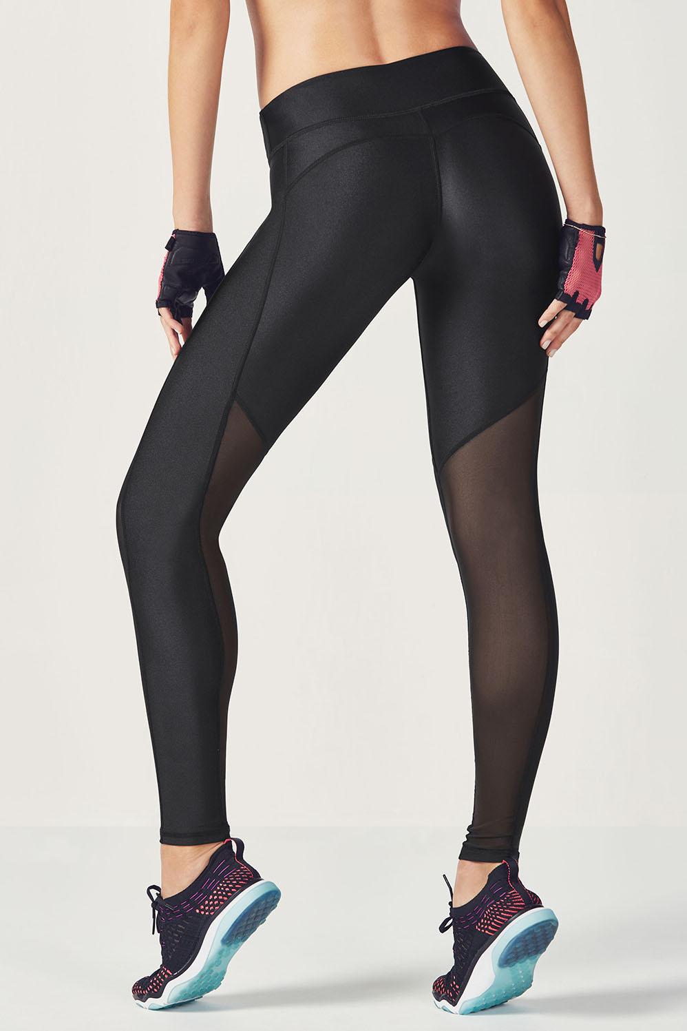 Fabletics Tight Rocha Shine Legging Womens Black Size L