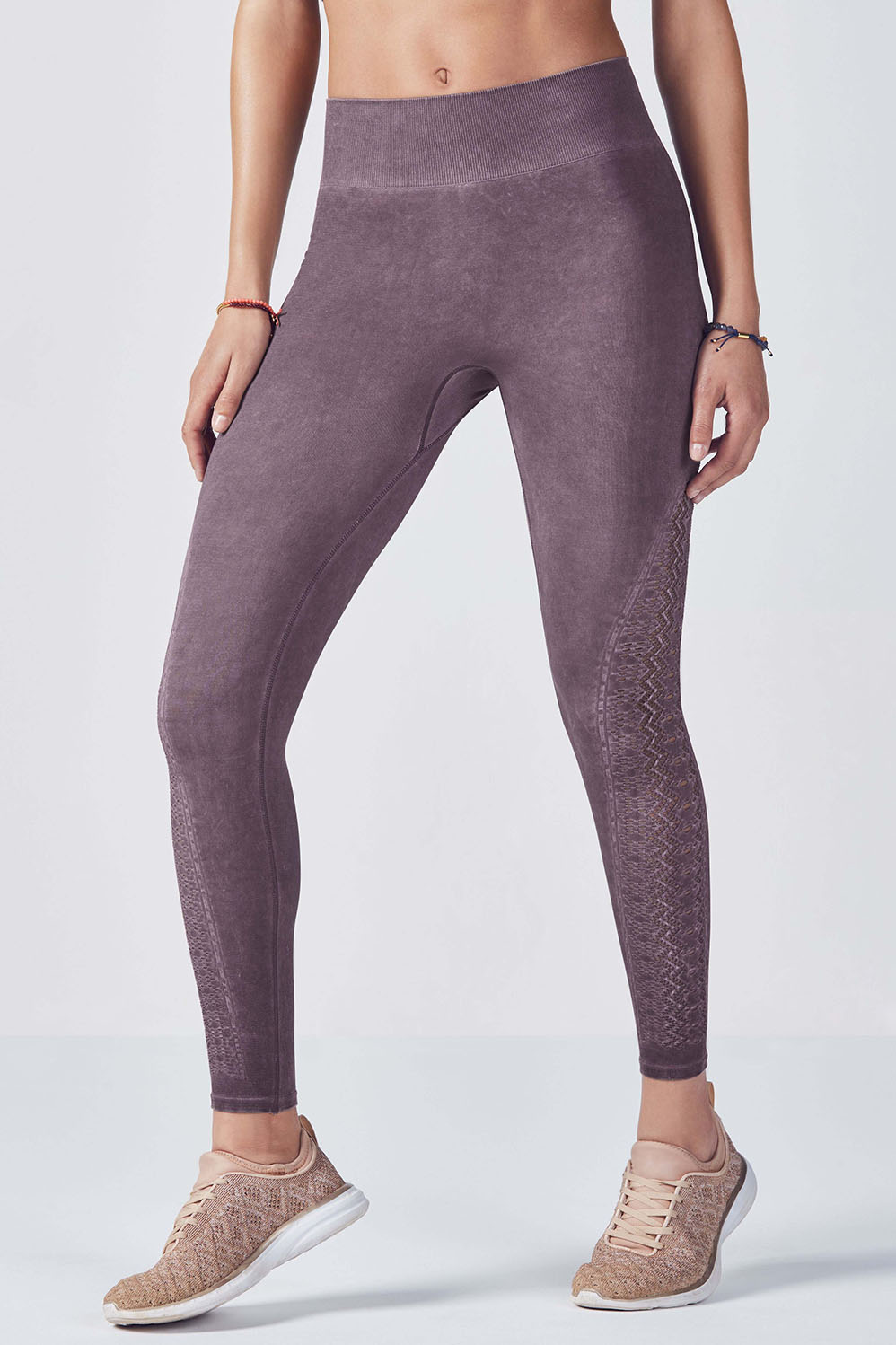 Fabletics Tight Seamless Solid Legging Womens Gray Size L