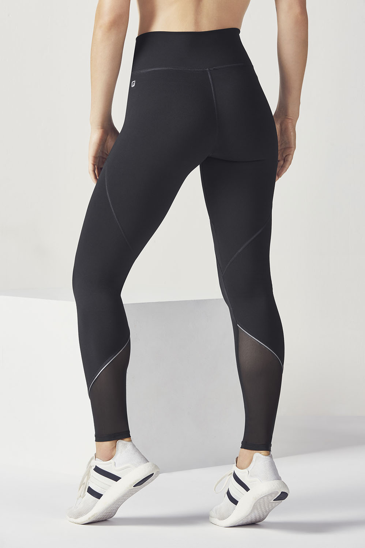 c1c786395 High-Waisted Mesh PowerHold® Legging - Black Silver