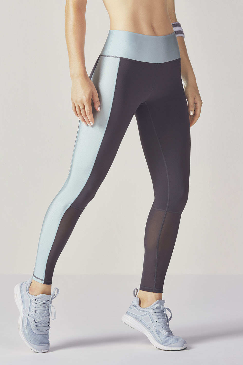 Fabletics Tight High-Waisted Mesh Powerhold Legging Womens Gray Size S
