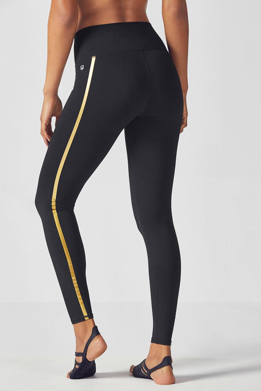 796e02da6c31 High-Waisted Statement PowerHold® Legging - Black/Gold