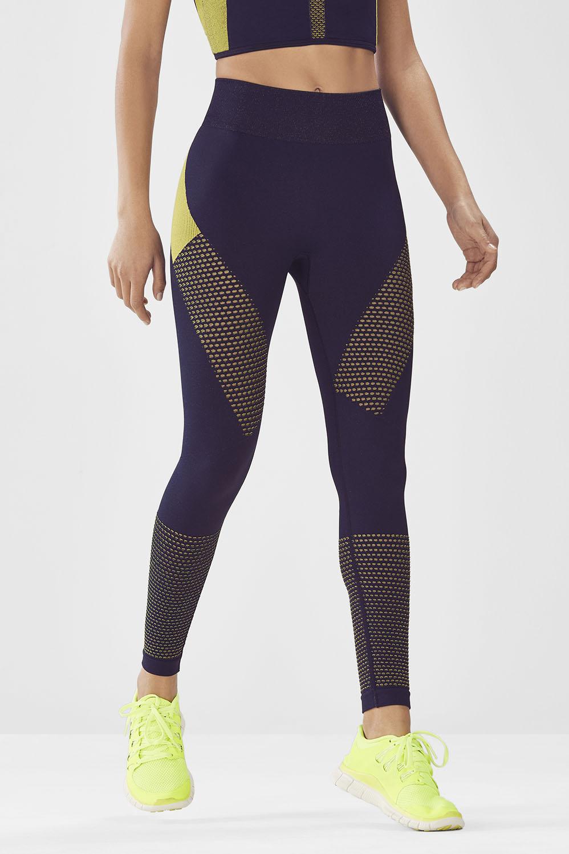 Fabletics Tight Seamless Printed Legging Womens Blue Size XXS