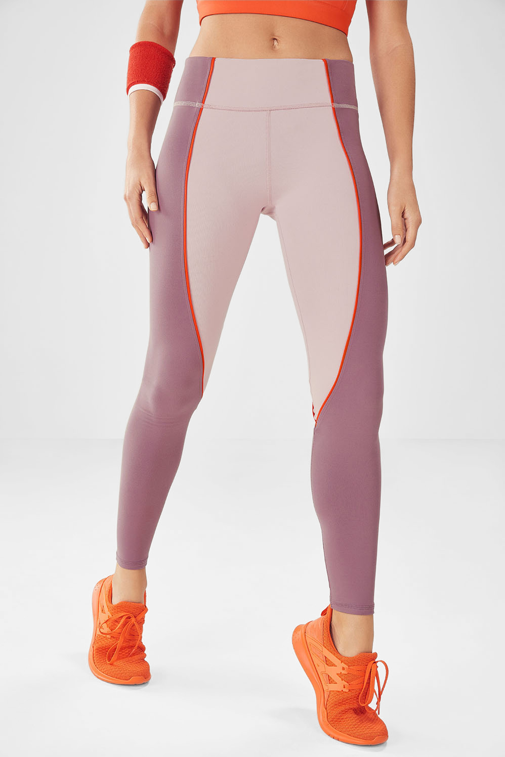 Salar Statement PowerHold® Legging - Dusty Rose/Rouge/Tangerine