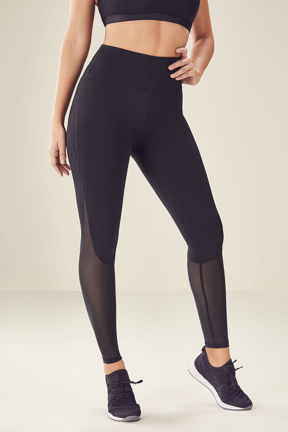 5664543eda4fe9 High-Waisted Mesh PowerHold® Legging - Fabletics